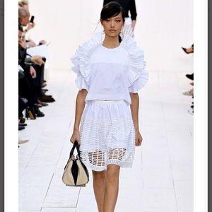 Chole Runway White Cutout Skirt size 36